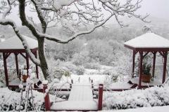 Jardin du Brec sous la neige
