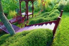 escalier bois et pavillon