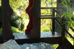 Passerelle rouge carmin Vallon du Brec
